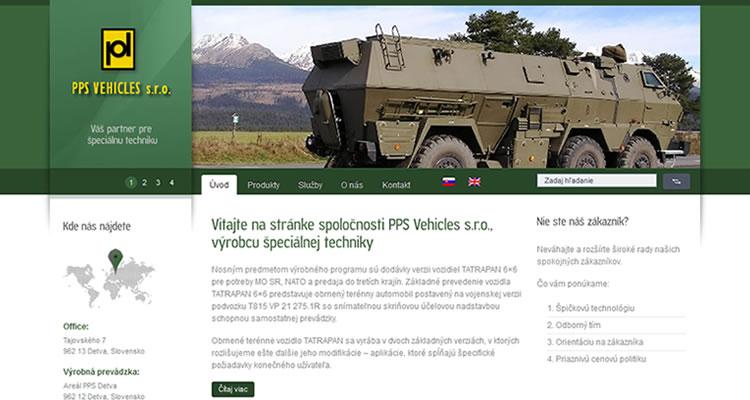 Redizajn stránky www.ppsvehicles.sk