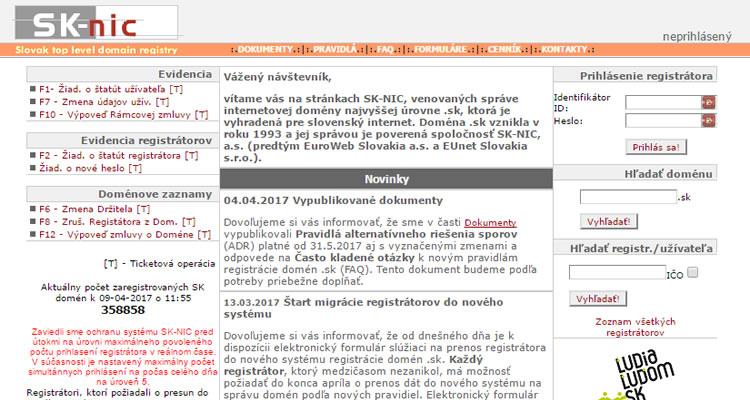 Registrácia vlastnej SK domény