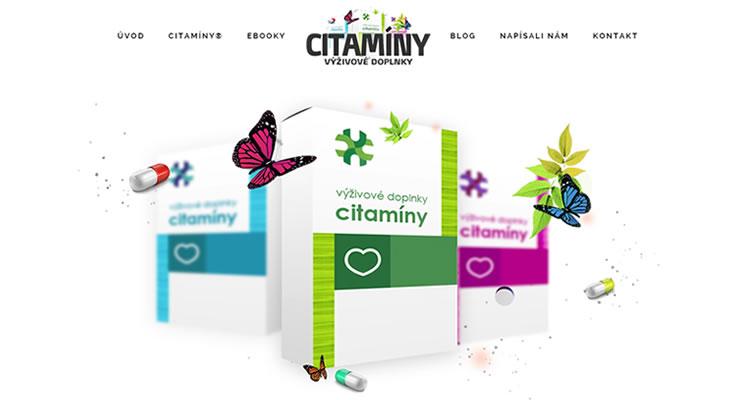 Spustená nová stránka www.citaminy.sk
