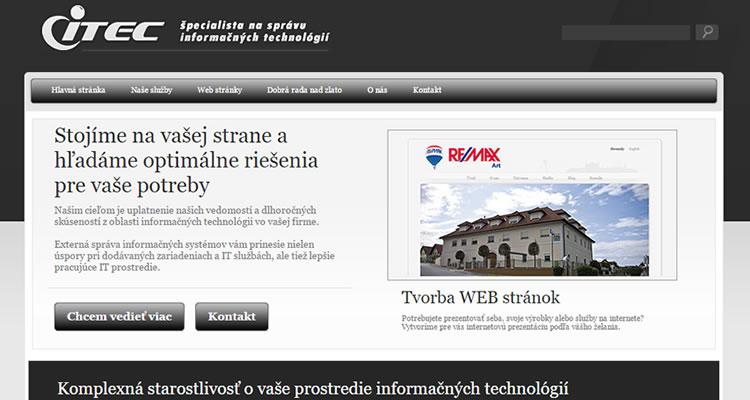 Spustená nová web stránka itec.sk