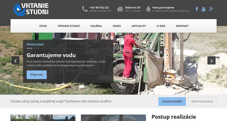 Spustená nová stránka www.vrtstudne.sk