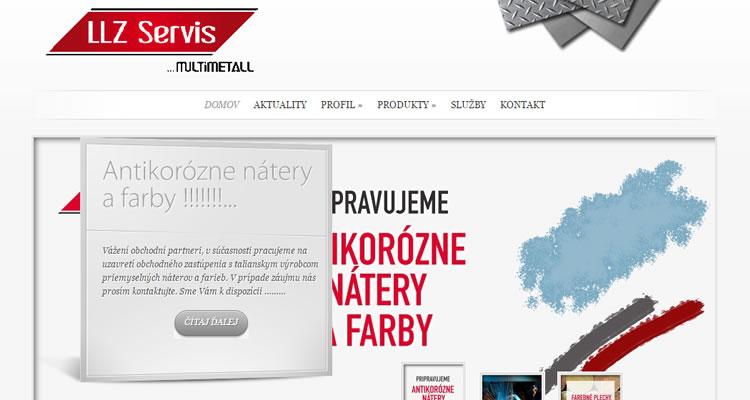 Spustená stránka www.llzservis.sk
