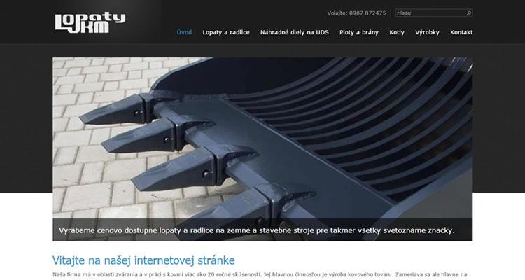 Spustená stránka www.lopatyjkm.sk