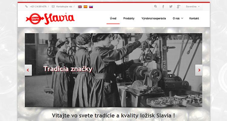 Spustená stránka www.slavia.net