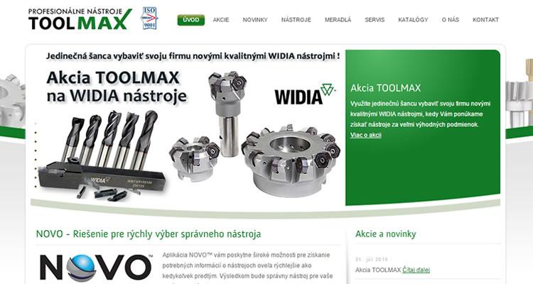 Spustená stránka www.toolmax.sk