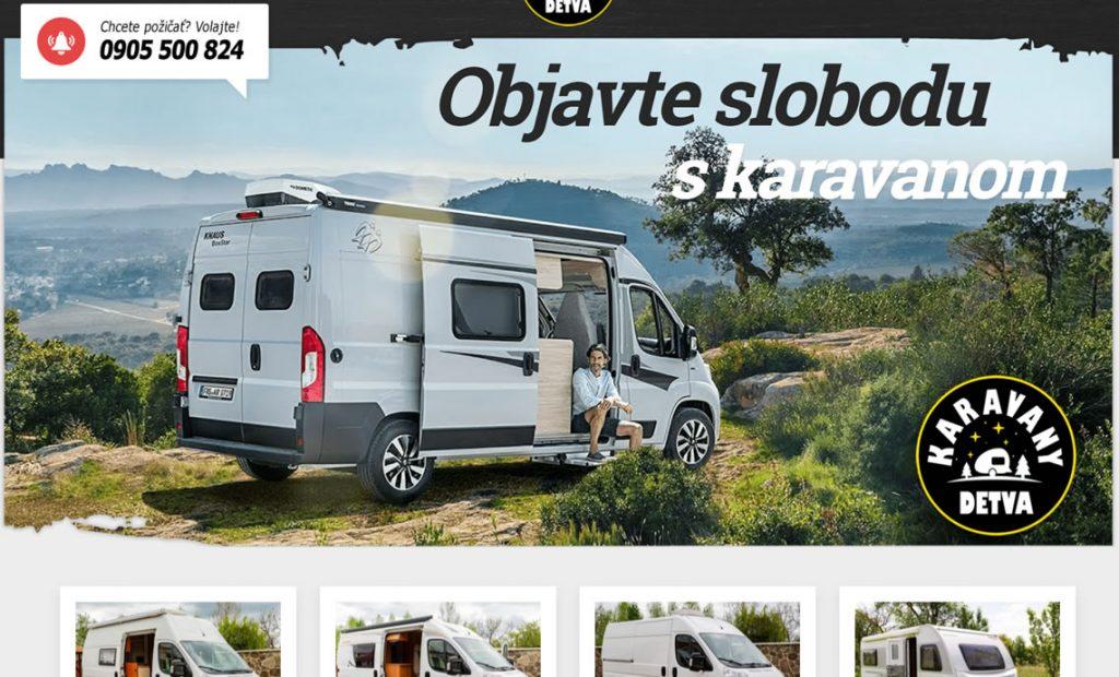 Web stránka karavany-dt.sk