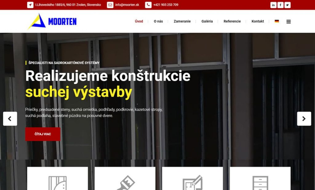 Web stránka moorten.sk
