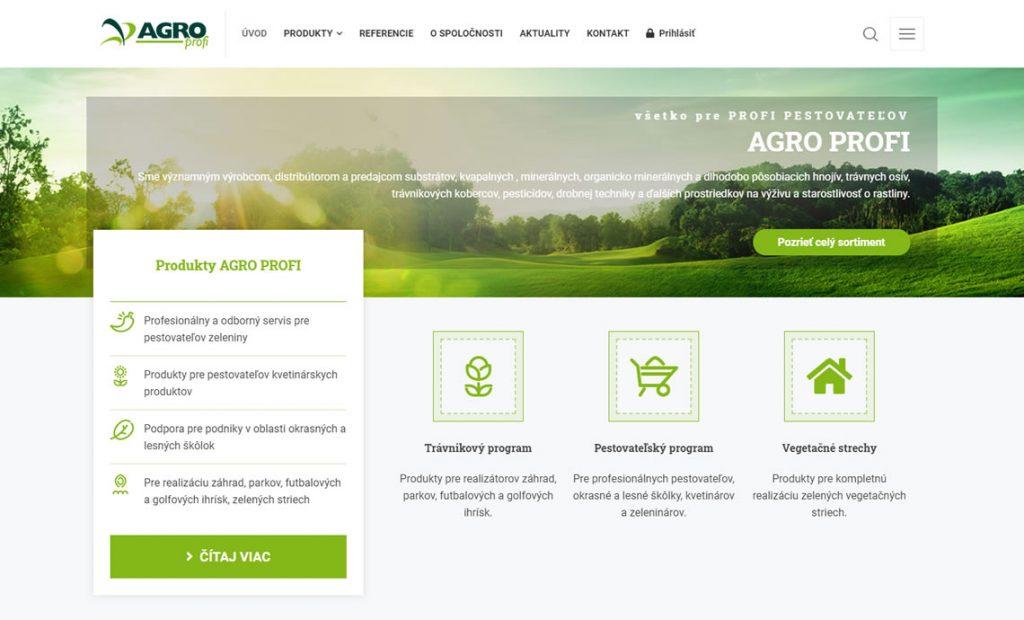 Nová stránka pre PROFI pestovateľov