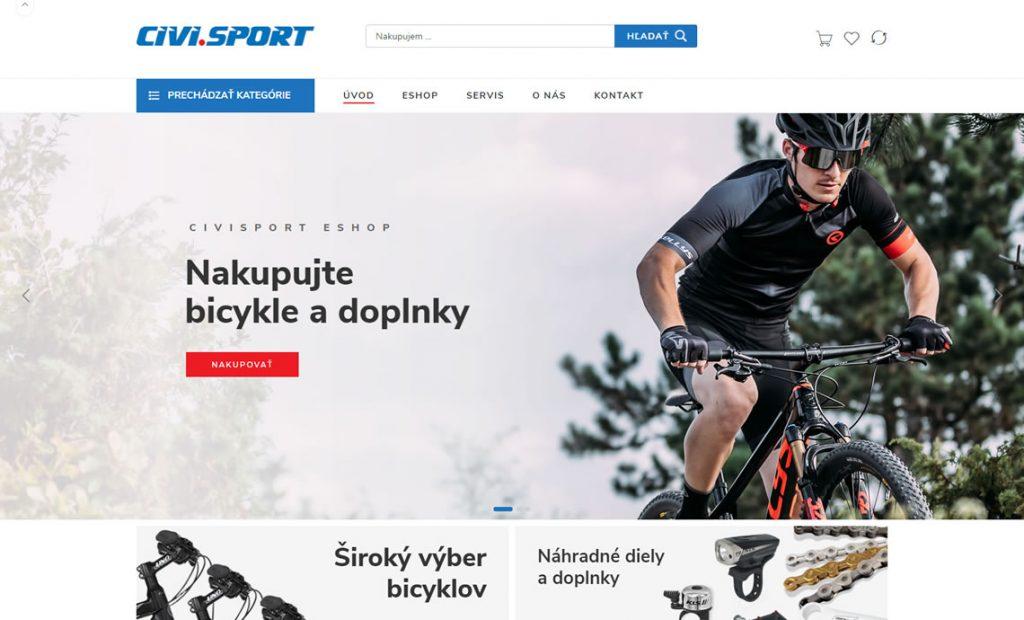 civisport.sk – eshop s bicyklami a príslušenstvom