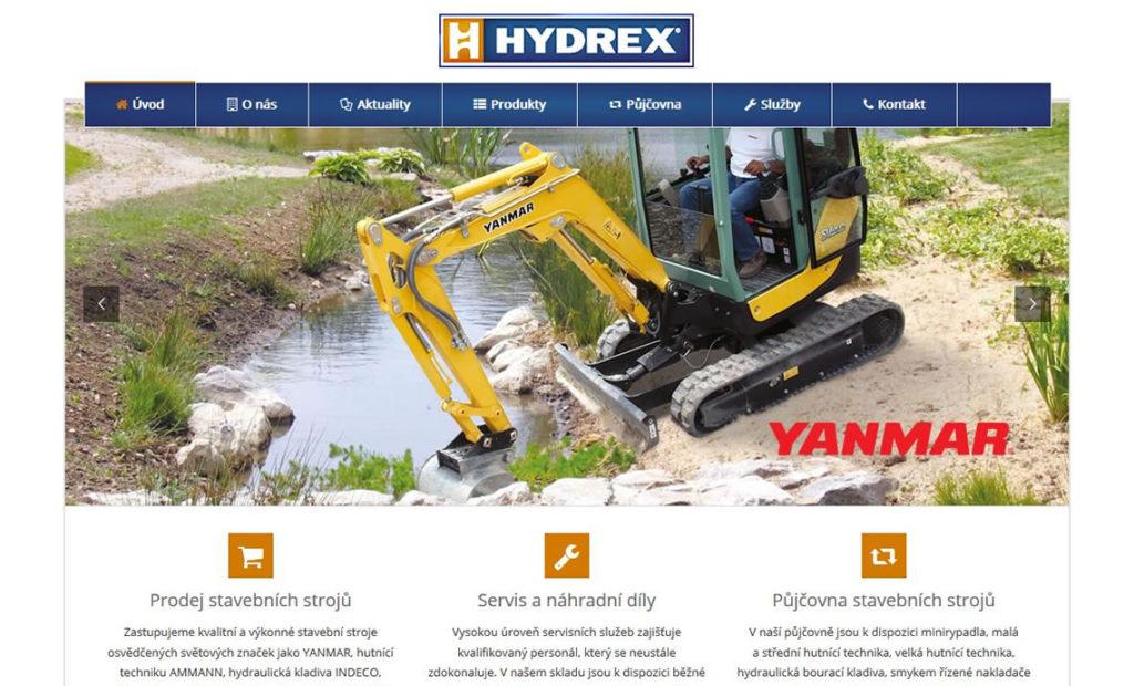 Redizajn stránky www.hydrexbohemia.cz