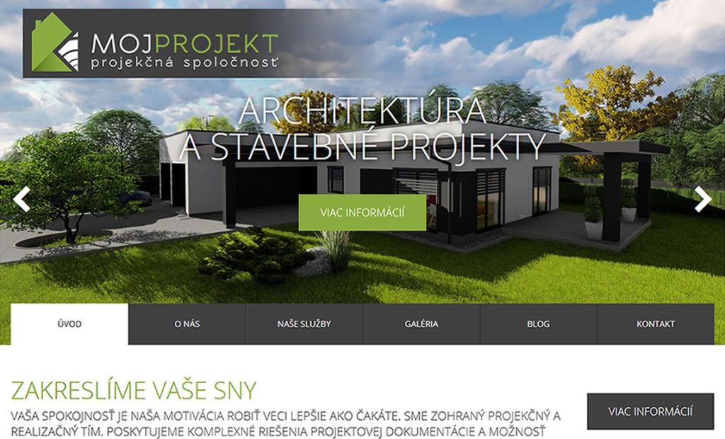 Redizajn stránky www.mojprojekt.sk