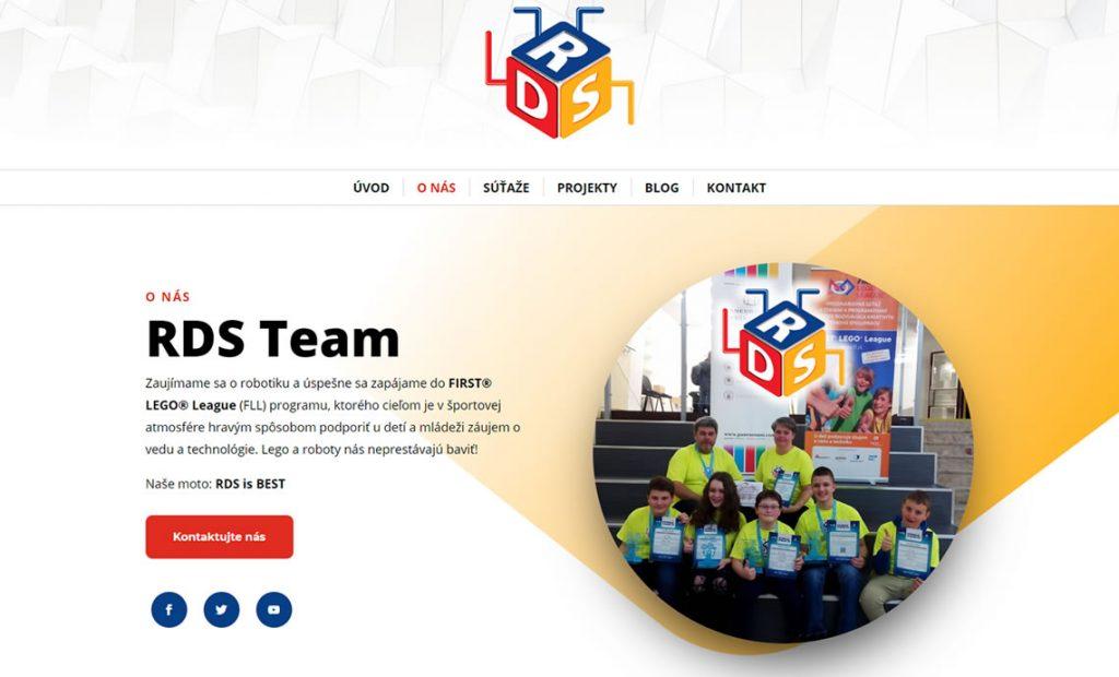 Web stránka rdsteam.sk