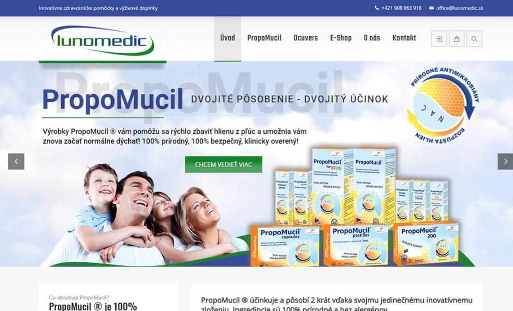 Web stránka lunomedic.sk