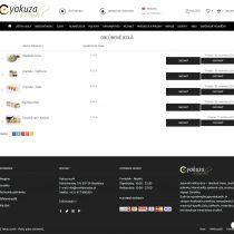 Yakuzasushi - obľúbené jedlá pre rýchlu objednávku