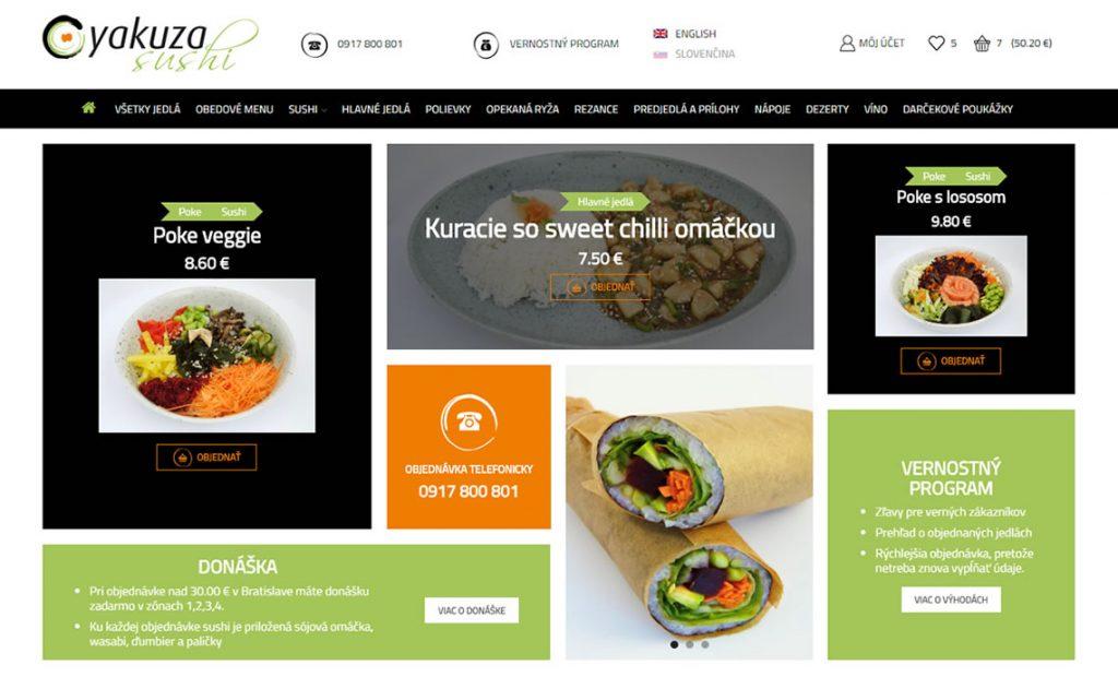 Yakuza sushi – objednávkový systém pre donášku japonskej reštaurácie