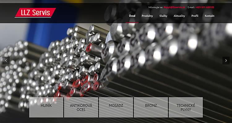 Redizajn stránky www.llzservis.sk