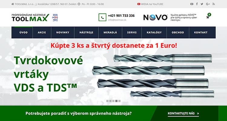 Redizajn stránky www.toolmax.sk