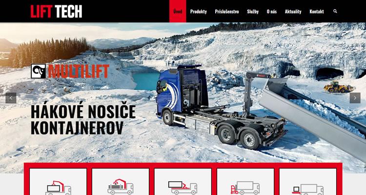 Internetová stránka www.lifttech.sk