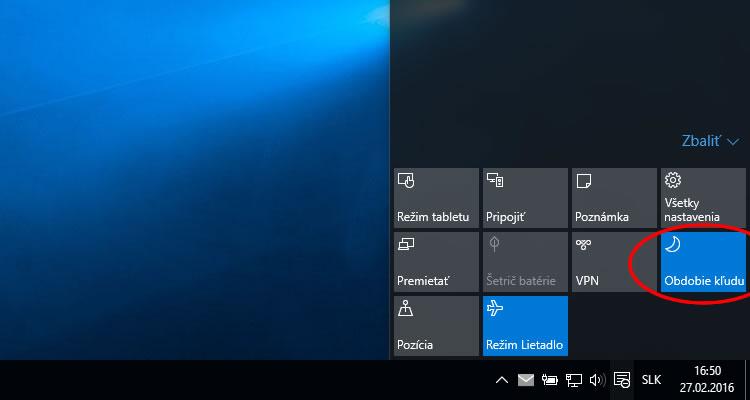 Vypnutie oznámení Windows 10