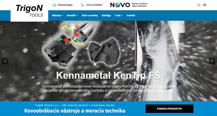 Redizajn stránky pre spoločnosť obchodujúcu s kovoobrábacími nástrojmi